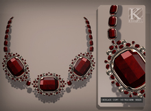 (Kunglers) Aphrodite necklace - ruby