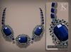 (Kunglers) Aphrodite necklace - Sapphire