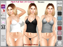 !FP! April Top & Panties 8 Colors BASIC - Slink Physique Hourglass Belleza Isis Venus Freya TMP Maitreya Omega