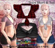 [Syn] Tracy Short & Top (Texture HUD, Maitreya, Physique, Hourglass, materials enabled)