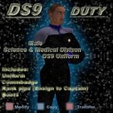 Trek Designs - DS9 Duty Male Science Uniform