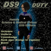 Trek Designs - DS9 Duty Female Science Uniform