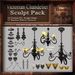Victorian Chandelier Sculpt Pack, Sculpted Antique Lighting , 26 Sculpty Maps & 43 Textures Full Perms - Sculpties