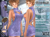 Bella Moda: Collo Alto Violet High Neck Dress & Shoes Outfit - Fitted for Maitreya/Physique/Hourglass/Classic+Std - FULL
