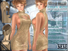 Bella Moda: Collo Alto Gold High Neck Dress & Shoes Outfit - Fitted for Maitreya/Physique/Hourglass/Classic+Std - FULL