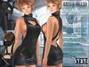 Bella moda collo alto black dress   shoes outfit