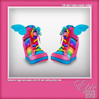 8-Bit Heart Sneaker Wedges