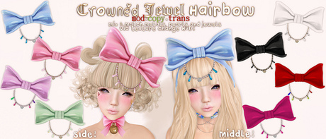 .tsg. Crowned Jewel Hairbow FATPACK