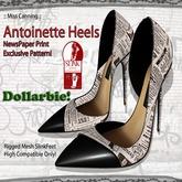 :: Miss Canning:: [Antoinette heels] NewsPaper DOLLARBIE!