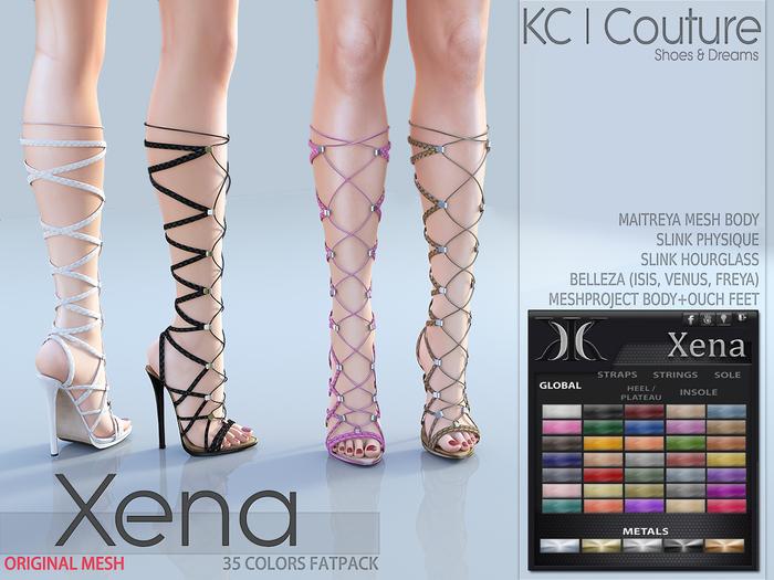 -KC- XENA BOOTS - MAITREYA, BELLEZA, SLINK, HOURGLASS, MESHPROJECT!