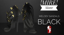 !MIRE! Melody Straps Sandals  Black