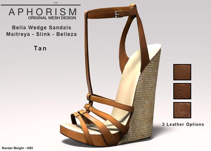 !APHORISM! Bella Wedge Sandals - Tan