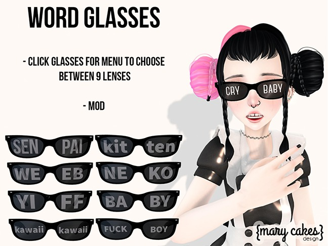 {MC} Word Glasses Boxed