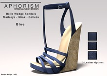 !APHORISM! Bella Wedge Sandals - Blue