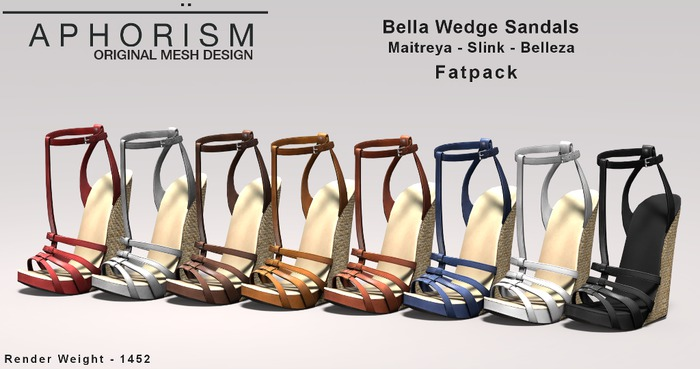 !APHORISM! Bella Wedge Sandals - Fatpack
