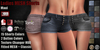 GAS [Ladies MESH Shorts Maui - 15x2 Colors with HUD]