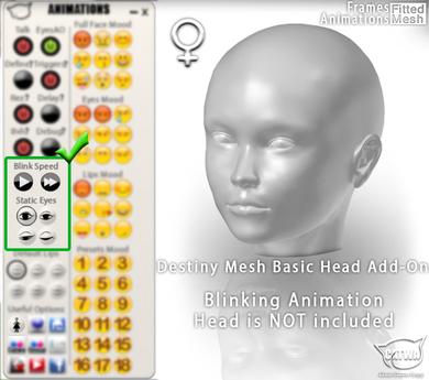 CATWA HEAD Destiny [Blink Add-On]