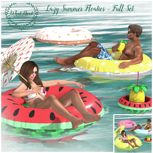 {what next} Lazy Summer Floatie - Full Set