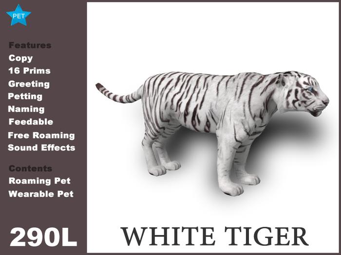 [TomatoPark] White Tiger 3.5 ( roaming + 2 wearables )