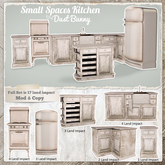 dust bunny . small spaces kitchen . boxed . rez & touch