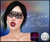 .Viki. *GIFT* Lace Mask - For Lelutka and Omega