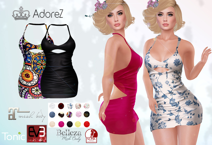 AdoreZ - Rubia Dress HUD 15 Colors
