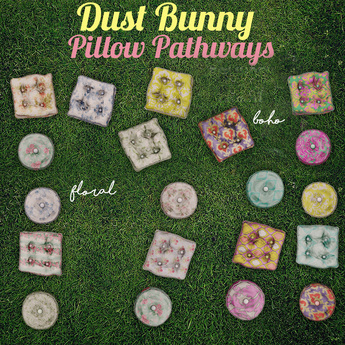 dust bunny . pillow pathway . floral