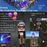 Up Grumpy Mr. Fredrickson Avator & Living room set (crate)