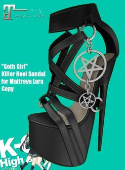KO-H Goth Girl Killer Heel Sandals Maitreya Lara