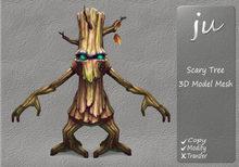 JU Scary Tree 3D Model Mesh