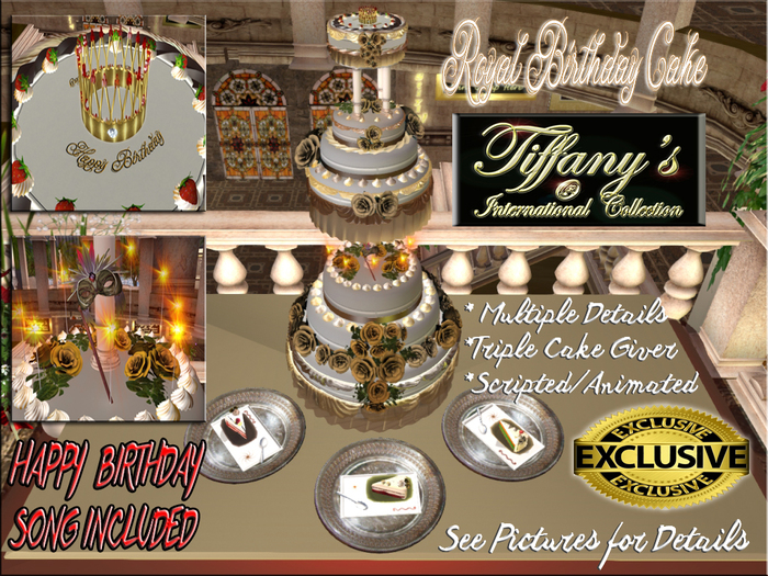 Superb Second Life Marketplace Royal Birthday Cake Song Birthday Cards Printable Inklcafe Filternl