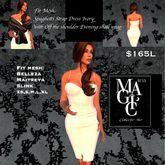 Speghetti strap corset dress Ivory Fit Mesh (Box)