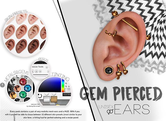 L'Etre - Gem Pierced Ears