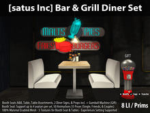[satus Inc] Bar & Grill Diner Set
