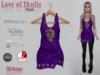 Love of skulls purple