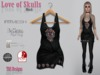 Love Of Skulls Dress Black