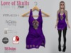Love Of Skulls Dress Purple