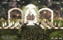<Aphrodite> Blooming Spring Wedding Ceremony set complete- Includes wedding walk, animated altar & chairs, on/off lights