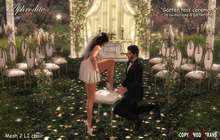 <Aphrodite> Blooming Spring Wedding - Garter Toss ceremony- Have fun with the garter and throw it away after!