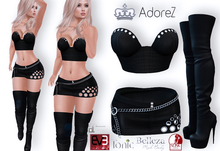 AdoreZ - Brokee Top and Skirt , Boots