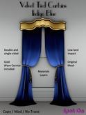 *SO* Velvet Tied Curtains - INDIGO BLUE