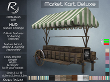 Riders Market Kart Deluxe (7 Structure Textures & 17 Awning Textures) Cart Store Display Stand Wagon
