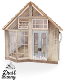 dust bunny . upcycled cabin
