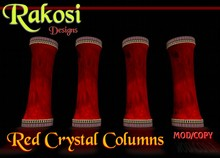 Egyptian Red Crystal Columns