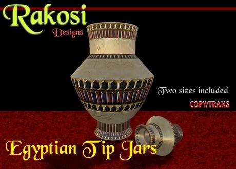Egyptian Jewel Tip Jars