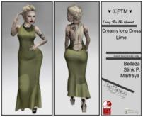 Dreamy long Dress Lime- * LFTM *