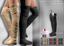 *IS* Lowland Knee-High Boots :::Suede::: BLACK