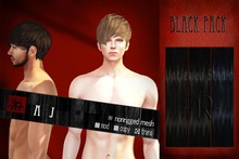 [Uw.st -7R-]  AJ-hair  Black pack