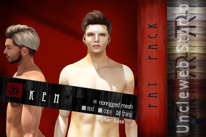 [Uw.st -7R-]  Ken-hair  Fat pack