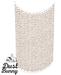dust bunny . wood beaded curtain